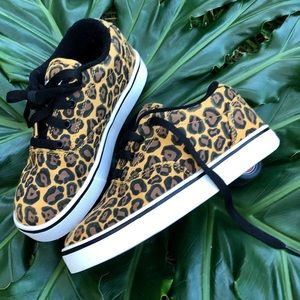 Leopard print Heelys!! Sneakers with wheels